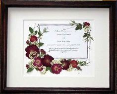 pressed flowers with wedding invite by floral keepsakes. Black Bedroom Furniture Sets. Home Design Ideas