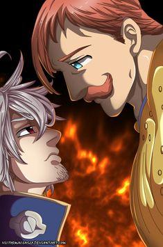Estarossa & Escanor (The Seven Deadly Sins) Otaku Anime, Anime Naruto, Escanor Seven Deadly Sins, Mugiwara No Luffy, Captain America Wallpaper, Seven Deady Sins, 7 Sins, Tsundere, Itachi Uchiha