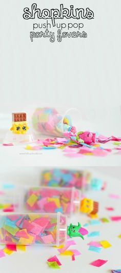 Having a Shopkins party?  These push up pops are an EASY Shopkins party favor and so cute!