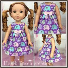 Purple Elephant Wellie Wisher dress