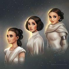 Star Wars Generations Rey, Leia & Padme.