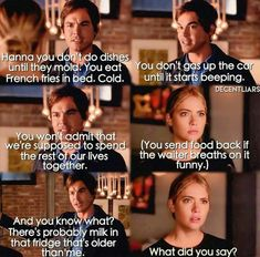 when hanna realized she was being stubborn and admitted she wanted caleb back..i cried some tears yall. I watched this show since it started and omg i miss it...yes it was all over the place but haleb being together in the end was great! also i think the actress that played Hanna was pissed about them making her REAL life EX fuck around with another girl which was her damn friend...