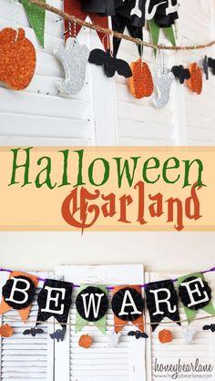 Halloween Salt Dough Garland - so easy and cute!