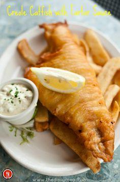 Yum, Catfish! http://www.thedailymeal.com/creole-catfish-tartar-sauce
