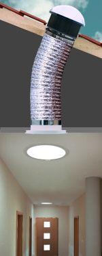 Rien à faire pour améliorer la luminosité d'un couloir sombre ? Pensez au tube Velux !