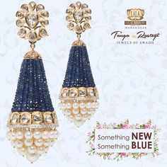 For our beautiful bride to be Diamond Chandelier Earrings, Gold Jhumka Earrings, Indian Jewelry Earrings, Gold Earrings Designs, Bead Jewellery, Gold Designs, Temple Jewellery, Gold Jewelry, Pakistani Bridal Jewelry