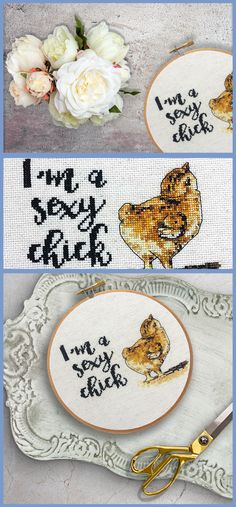 A sexy take on modern cross stitch!