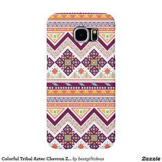 Colorful Tribal Aztec Chevron Zig Zag Pattern Samsung Galaxy S6 Case