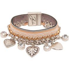 Bibi Bijoux Womens Camel Brown Leather Plait Charm Bracelet ($295) ❤ liked on Polyvore