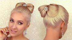 Zarif Fiyonk Topuz Saç Modeli Uygulaması - Özel günler için veya günlük evde yapabileceğiniz zarif fiyonk topuz saç modeli tekniği (Hair Bow Updo Hairstyle Tutorial For Medium Long Hair Video)