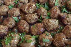 Κεφτεδάκια φούρνου με κρεμμύδια