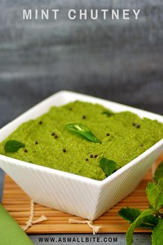 Mint Chutney goes very well with all South Indian tiffin items like idli, dosa, rava idli etc. You can replace tamarind with lemon juice, skip coconut and make it as a dip to paneer tikka, samosa and pakora's also. Coconut Mint Chutney Recipe, Pudina Chutney Recipe, Idli Chutney, Vegetarian Cooking, Cooking Recipes, Samosa Recipe, Paneer Tikka, Indian Breakfast, Chutney Recipes