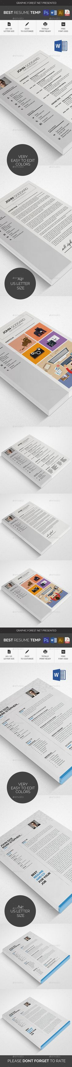 Xx Clean Resume  Cv Template Resume Cv And Font Logo