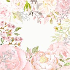 Wall Floral Watercolor Background, Flower Background Wallpaper, Flower Backgrounds, Watercolor Cards, Background Patterns, Watercolor Flowers, Wallpaper Backgrounds, Art Clipart, Art Floral
