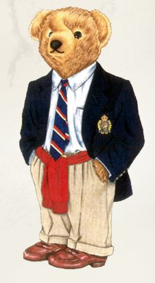 Ralph Lauren Bear. I love the Polo Bear!