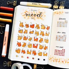 Unique Bullet Journal Mood Tracker Ideas to Keep You Mentally Equipped For your daily dose of bullet journal inspiration, check out these unique bujo mood tracker ideas to keep you mentally equipped. Bullet Journal Spreads, Bullet Journal Mood Tracker Ideas, Bullet Journal Tracker, Bullet Journal Notebook, Bullet Journal Layout, Bullet Journals, Autumn Bullet Journal, Daily Journal, Art Journals