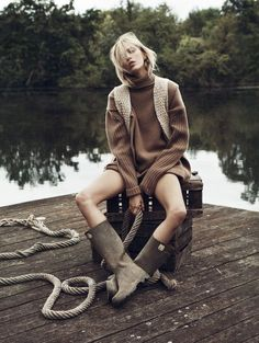 I Need To Have That: Allude oversized jumper Anja Rubik By Lachlan Bailey For Vogue Paris