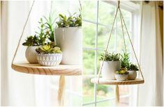 idée originale et créative de porte-plantes suspendu fait maison