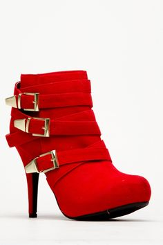 Bamboo Red Buckle Round Toe Bootie @ Cicihot. Booties spell style, so if you want to show what you're made of, pick up a pair. Have fun experimenting with all we have to offer!