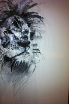 Lion Painting #art #painting KatyJadeDobsonArt