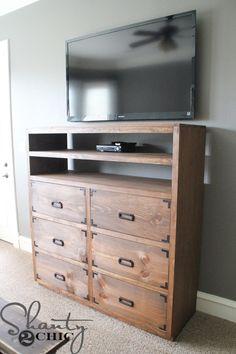 Diy Shelves For My Sliding Barn Door Media Console