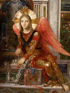 Gustave Moreau  via Flickr  angel detail from King David