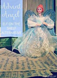 Advent Angel {elf on the shelf alternative}
