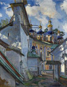 View of the Pechersky Cloister by Sergei Vinogradov [b1869, Bolshie Soli (Kostroma Province, Russia) ~ 1938]