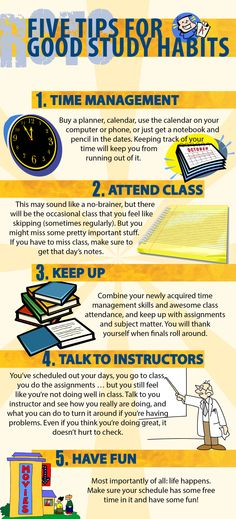 Five tips for good study habits