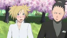 Shikamaru and Temari at Naruto and Hinata's Wedding ♥♥♥ #ShikaTema #Couple #Beautiful #Family #Love #NaraClan #Cute