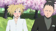 Shikamaru and Temari at Naruto and Hinata's Wedding ♥♥♥ #ShikaTema #Couple #Beautiful #Family #Love #NaraClan #Cute