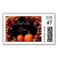 Rustic Fall Wedding Postage Stamp | Autumn Wedding