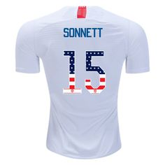 9150ea589a3 18/19 Men's Emily Sonnett Home Jersey USA Independence Day For Sale. Usa  Soccer TeamSoccer CityYouth SoccerSoccer JerseysClint DempseyMegan  RapinoeSoccer ...
