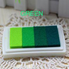 Mestiere di DIY Ink Pad Rubber Stamp Legno Tessuto A Base di Olio di Carta Scrapbooking 6 Colori Inkpad Dito Vernice