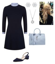 """""""Untitled #855"""" by lovelifesdreams on Polyvore featuring Sandro, Manolo Blahnik and Yves Saint Laurent"""