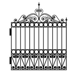Wrought Iron Fence and Gate Wall Decal Set | WilsonGraphics ...