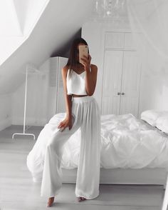 "9,328 Likes, 98 Comments - EMMA SPILIOPOULOS (@em.spiliopoulos) on Instagram: ""Resort Cami & Resort Pants ☁️🌴 @saboskirt"""