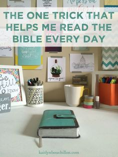 one super simple and easy way to remember to read the Bible every day . why have I never thought of this? Bible Study Tips, Book Study, Christian Living, Christian Life, Daily Bible, God Is Good, Help Me, Word Of God, Bible Verses