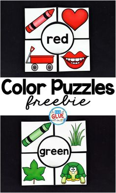 Free Color Puzzles that are great for preschool and kindergarten students. A fun way to practice colors!