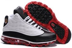 Mens Jordan 13 Air Max Fusion Black/White/Red shoes for sale