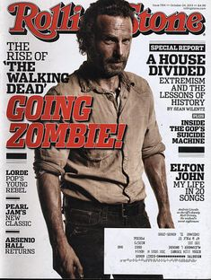 Huge collection of vintage, old, collectible, rage magazines spanning over 100 years with thousands of titles. Featuring Andrew Lincoln, Lorde, Pearl Jam, Arsenio Hall, Elton John, Riff Raff, Frank Ockenfels. Andrew Lincoln Walking Dead, Rick Grimes Walking Dead, The Walking Dead 3, Andy Lincoln, Rolling Stone Magazine Cover, Mundo Musical, Evil Dead, Stuff And Thangs, Dead Man