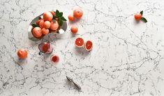 Caesarstone White Attica - the perfect hero in a modern kitchen. Rich blue black veins on a brilliant white.