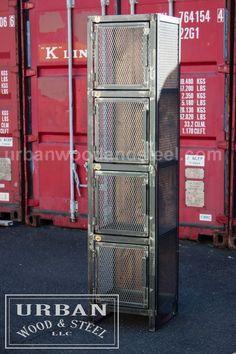 Westhampton Wine Locker by urbanwoodandsteel on Etsy