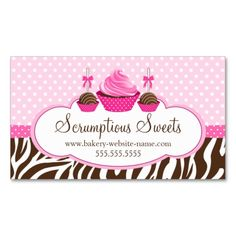 1108 best bakery business cards images on pinterest bakery cupcake and cake pops bakery business card reheart Image collections
