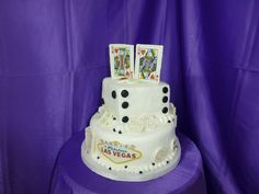 Here is a Las Vegas cake toned down a bit in white.