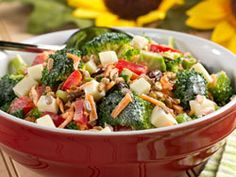 Anytime Broccoli Salad - This potluck salad is the perfect summer bring-along for weekend picnics or barbecues.