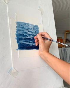 Amazing Paintings, Amazing Art, Watercolor Illustration, Watercolor Paintings, Watercolors, Painting Illustrations, The Ocean, Seascape Art, Beach Watercolor