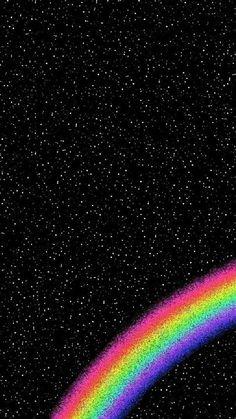 Rainbow, wallpaper, and black image. Rainbow Wallpaper, Cute Wallpaper Backgrounds, Pretty Wallpapers, Wallpaper Iphone Cute, Tumblr Wallpaper, Aesthetic Iphone Wallpaper, Galaxy Wallpaper, Black Wallpaper, Cartoon Wallpaper