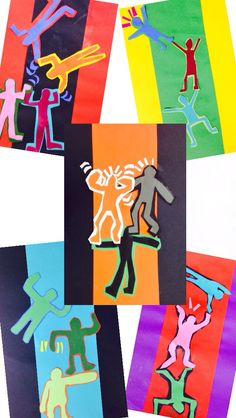 West Middleton ART SMARTIES: Gr. 2: Keith Haring Bending Bodies (collage)