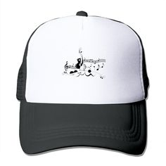 """Adult Music Notes The Adjustable Snapback Trucker Hat. 100% Nylon Mesh Back Keeps You Cool. 100% Polyester Foam Front. Hand Washing Only. Adjustable From 17"""" To 24"""". Customized Pattern Design,Perfect As A Gift,High Quality And Environmentally Friendly Printed."""